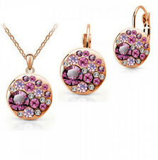 Wonderful 18k Gold plated Bling Austrian Crystal Women's Collar jewelry sets