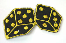 LUCKY DICE CRAPS NUMBER 7 Embroidered Iron Sew On Cloth Patch Badge APPLIQUE