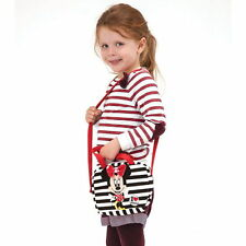 NEW OFFICIAL Minnie Mouse Disney Girls / Kids Plush Soft Handbag / Shoulder Bag