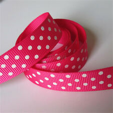 2yd x 16mm Polka Dot Grosgrain Ribbon Lace Trim Bridal Wedding Cake DIY Sewing