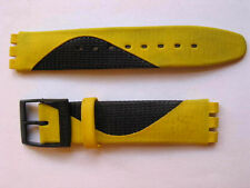 SWATCH+AUTOQUARTZ+LEDERBAND+ASTZ100E GENERATOR YELLOW+17mm+NEU/NEW