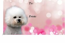 Bichon Frise Dog Self Adhesive Gift Labels design No. 2. by Starprint
