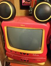 Disney Mickey Mouse 13 inch TV with Speaker Ears and Disney DVD Player & remotes