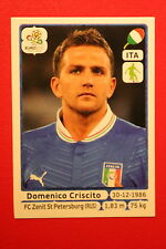 Panini EURO 2012 N. 322 ITALIA CRISCITO NEW With BLACK BACK TOPMINT!!