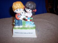 "Ceramic/Porcelain music box figurines ""Friends"" -Valentines Day or Birthday gift"