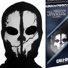 ADULT LOGAN GHOST FULL FACE MASK SKI HOOD +CALL OF DUTY MODERN WARFARE DOG TAGS