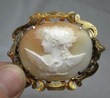 Monumental Cameo 14K Gold Hebe and Zeus Eagle Hera Marriage Victorian c1880 Rare