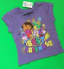 "NEW! Dora ""Best Friends"" Girls Graphic Shirt 12-18 Months Purple Gift! Explorer"