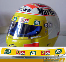 Helmet Visor sticker to fit Badoer Schumacher Tic Tac Ferrari F1 in Yellow