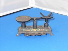 """Vintage Cast Iron Toy Scale 4 3/4"""" Long! Missing Weights & Basket"""