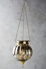 NWT Anthropologie Hundi Mercury Lantern Gold