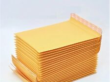 50 x Kraft Bubble Envelopes Padded Mailers Shipping Self-Seal Bags 120x160mm