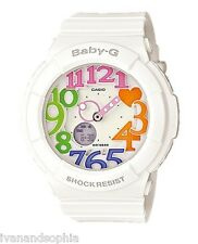 Casio Baby-G * BGA131-7B3 Neon Illuminator Colored Dial White Resin COD PayPal