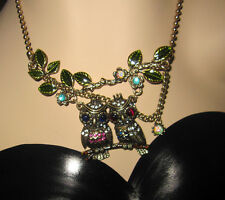 Betsey Johnson Women's Woodland owl with branch necklace