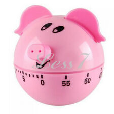 Hot Sale Lovely Pig Shape Festive Kitchen Egg Cooking Baking Timer 60 Minutes