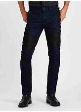 Guess Slim Tapered Jeans Espionage Coated Wash 3 & Black Contrast Panels Size 31