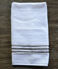 Missoni Home Master White Cotton Terry Embroidered Hand Towel - Color 20