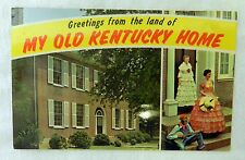 Vintage Uncirculated My Old Kentucky Home State Shrine Souvenir Postcard
