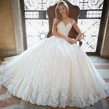 New White/Ivory  Lace Wedding Dress Bride Gown Size:2 4 6 8 10 12 14 16 18 20
