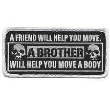 MILITARY A BROTHER WILL HELP YOU MOVE hook & Loop fastening easy on/off Patch