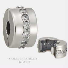 Authentic Pandora Sterling Silver Shining Path Clear CZ Clip 791972CZ