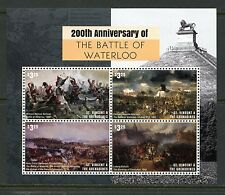ST. VINCENT GRENADINES 2016 200th ANNIVERSARY  BATTLE OF WATERLOO SHEET MINT NH