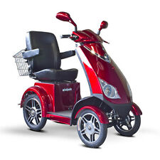 EWheels EW-72 4-Wheel 700W High Power Electric Mobility Scooter - Red