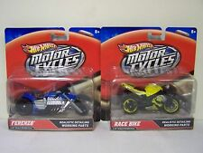 HOT WHEELS MOTOR CYCLES     FRENZO & RACE BIKE    NIP  1:18 SCALE
