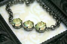 Fairy Glen Swarovski Elements Tennis Bracelet Rhinestone Luminous Green Original
