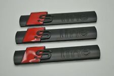 3X Audi S-Line Black Metal Badge Side Rear Boot Emblem S Line A 1 2 3 4 5 6 8 Q