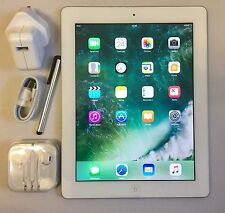 EXCELLENT Apple iPad 4th Generation 64GB, Wi-Fi, 9.7in, White + EXTRAS