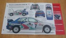 1996 MITSUBISHI EVO EVOLUTION III RALLY RACER UNIQUE IMP BROCHURE
