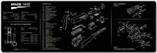 """Ruger 10/22 Rifle TekMat Gun Cleaning Mat 12""""x36"""" with Parts Schematic 36-1022"""