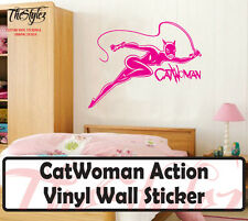 CatWoman Action Silhouette Oversize Vinyl Wall Sticker