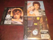 DAVID BOWIE 3 JAPAN REPLICA'S OBI CD SET STARDUST PIN-UPS AMERICANS XMAS SPECIAL
