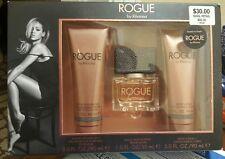 ROGUE BY Rihanna Fragrance 3 Pc Gift Set 1.oz Spray Parfum Lotion & Bath Gel New