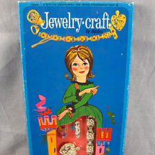 Hasbro Jewelry Craft Vtg 1965 Toy Set Make Bracelet Pin Barrette Original Box