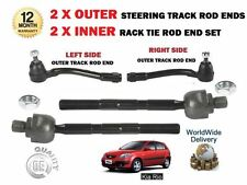 FOR KIA RIO 2005  2x OUTER + 2x INNER LEFT RIGHT STEERING TRACK RACK TIE ROD END