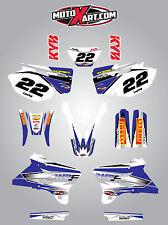 Yamaha WRF 450 - 2003 2004 stickers Full  Custom Graphic  Kit - SHOCKWAVE style