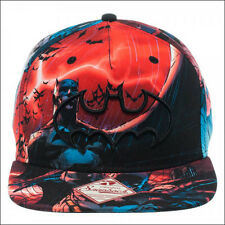 Batman Logo The Dark Knight DC Comics Multi Color Sublimated Snapback Cap Hat
