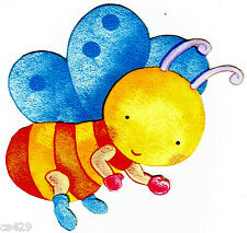 "5.5"" KIDSLINE SNUGGLE BUGS WINGS BUTTERFLY  WALL SAFE STICKER BORDER CUT OUT"