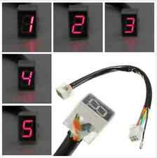 Red LED Universal Digital 6 Gears Indicator Motorcycle Display Shift Lever Senso