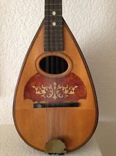 100 YR OLD ANTIQUE MANDOLIN MANUFACTURER GLOBE MUSICAL INSTRUMENT 1910 BEAUTIFUL