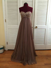 Formal Empire Waist Gown Size 2 Color Cafe Made by: Camielle - Group USA