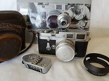 Leica M3 DS mit Leica Summaron M 2,8/35, Universalsucher VIOOH u. w. Zubehör