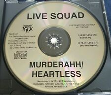 Live Squad - Murderahh / Heartless Promo CD 1992 2-Pac