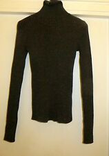 CHIC GUCCI FITTED RIBBED CASHMERE BLEND SPARKLE HIGH ROLL NECK  JUMPER