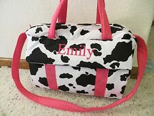 Cow print pink custom handmade Diaper Bag w/chg pad by EMIJANE free embroidery