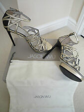 JASON WU METALLIC GOLD LEATHER CHARLEY SHOES RETAIL £855 SIZE UK 7 MADE IN ITALY