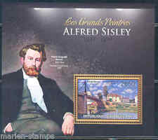 CENTRAL AFRICA 2012 ALFRED SISLEY  SOUVENIR SHEET MINT NH
